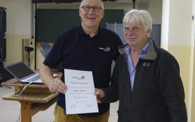 Rainer Pautkin wurde zum Ehrenmitglied ernannt